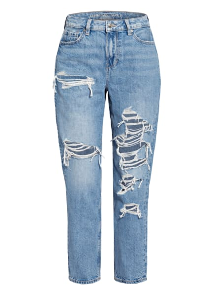AMERICAN EAGLE Mom Jeans, Farbe: 470 WORN OUT BLUE (Bild 1)