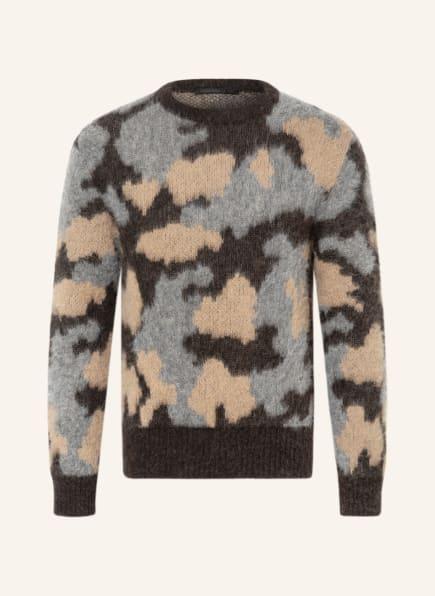 DRYKORN Pullover VINCENT mit Alpaka, Farbe: DUNKELBRAUN/ CAMEL/ GRAU (Bild 1)