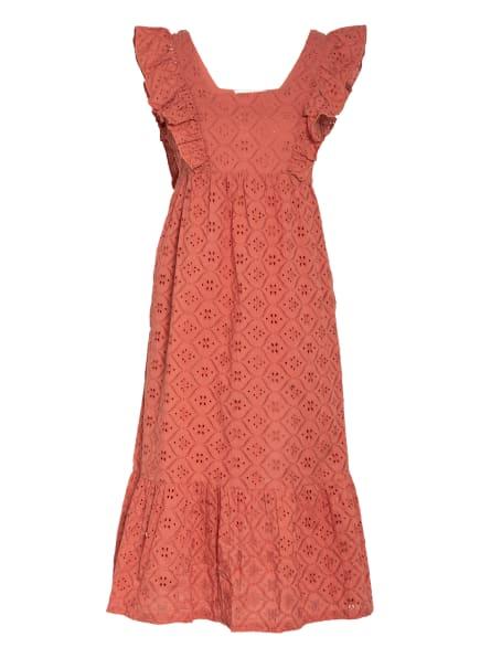 ba&sh Kleid BYRD mit Lochspitze, Farbe: HELLROT (Bild 1)