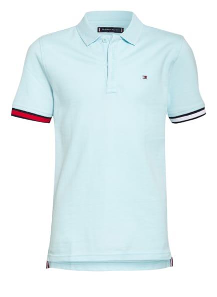 TOMMY HILFIGER Piqué-Poloshirt , Farbe: HELLBLAU (Bild 1)