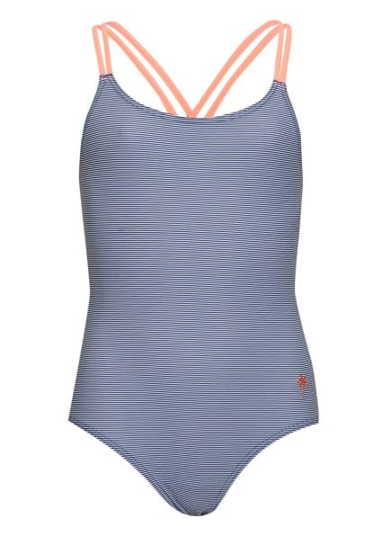 Sanetta Badeanzug, Farbe: BLAU/ WEISS (Bild 1)