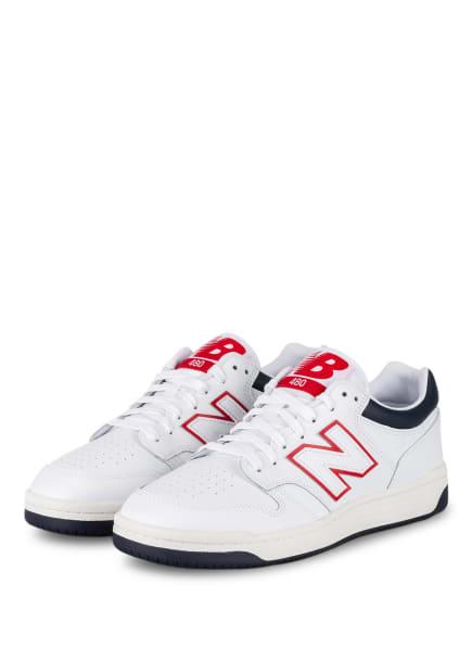 new balance Sneaker 480, Farbe: WEISS/ ROT (Bild 1)