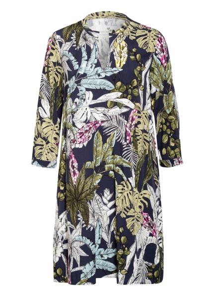 LIEBLINGSSTÜCK Kleid RELLIL mit 3/4-Arm , Farbe: DUNKELBLAU/ WEISS/ OLIV (Bild 1)