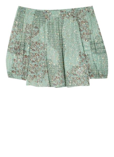 ba&sh Off-Shoulder-Bluse OLGA mit 3/4-Arm , Farbe: MINT/ GOLD/ DUNKELROT (Bild 1)