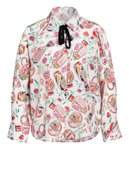 CLAUDIE PIERLOT Hemdbluse CHOUPIE aus Seide mit 3/4-Arm, Farbe: WEISS/ PINK/ GRÜN (Bild 1)
