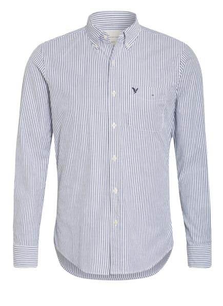AMERICAN EAGLE Hemd Regular Fit, Farbe: HELLGRAU/ WEISS (Bild 1)