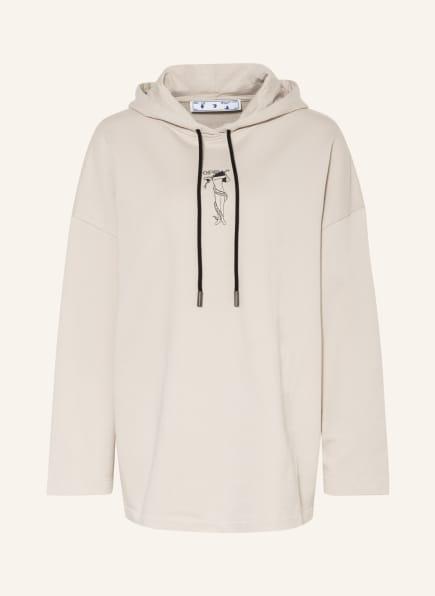 Off-White Oversized-Hoodie, Farbe: BEIGE (Bild 1)