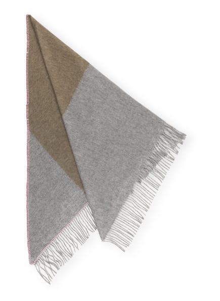 CODELLO Dreieckstuch, Farbe: GRAU/ OLIV/ ROSA (Bild 1)