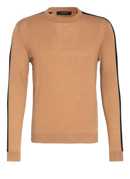 TED BAKER Pullover mit Galonstreifen , Farbe: SCHWARZ/ CAMEL (Bild 1)