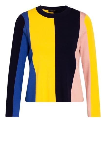 TED BAKER Pullover FENCHI , Farbe: BLAU/ GELB/ ROSÉ (Bild 1)