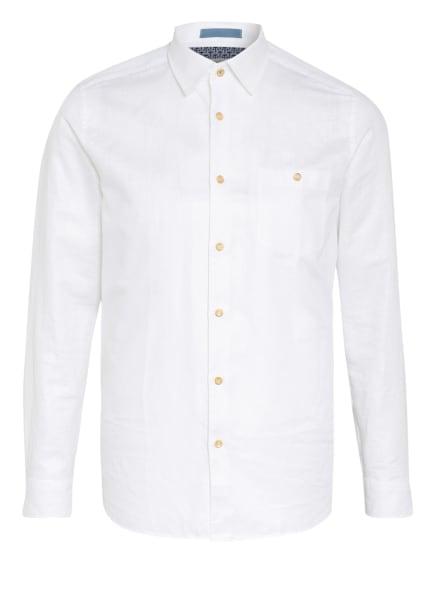 TED BAKER Hemd SAUSS Slim Fit mit Leinen, Farbe: WEISS (Bild 1)