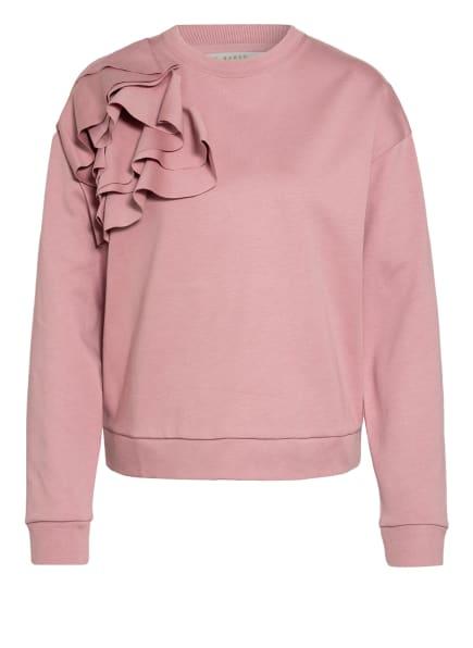 TED BAKER Sweatshirt OZAI mit Volantbesatz, Farbe: ROSÉ (Bild 1)