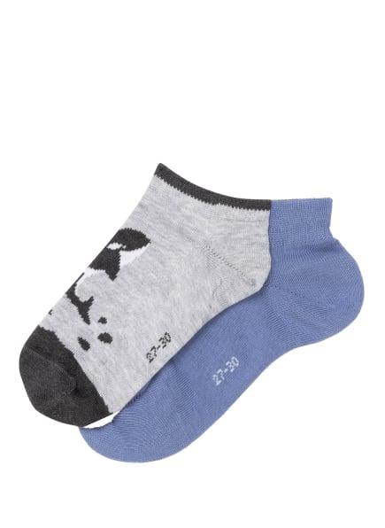 FALKE 2er-Pack Socken OCEAN JOURNEY, Farbe: BLAU/ SCHWARZ/ HELLGRAU (Bild 1)