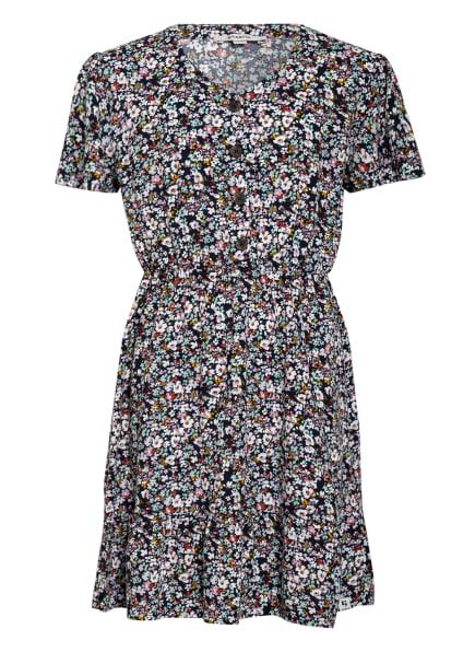 GARCIA Kleid mit Volantbesatz, Farbe: DUNKELBLAU/ WEISS/ MINT (Bild 1)