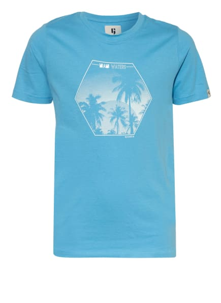 GARCIA T-Shirt, Farbe: HELLBLAU/ WEISS (Bild 1)