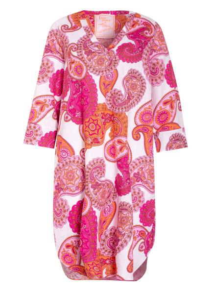 LIEBLINGSSTÜCK Kleid ESME mit 3/4-Arm und Leinen, Farbe: WEISS/ ROSA/ NEONORANGE (Bild 1)