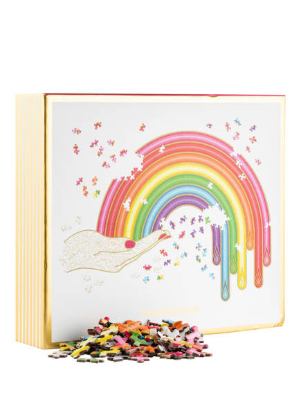 JONATHAN ADLER Puzzle, Farbe: WEISS/ SCHWARZ/ GOLD (Bild 1)