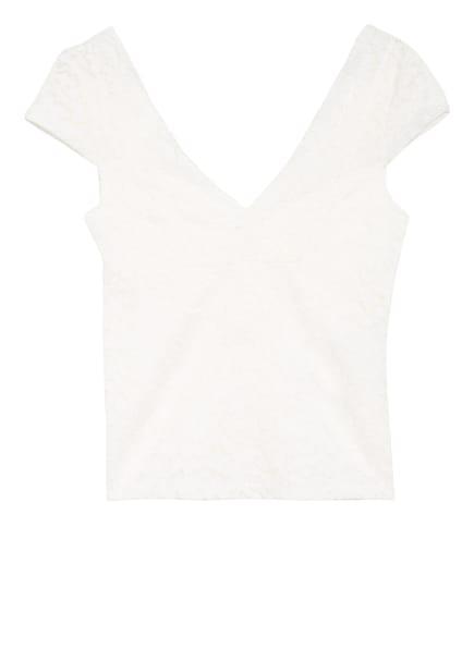 ONLY Spitzenshirt, Farbe: WEISS (Bild 1)