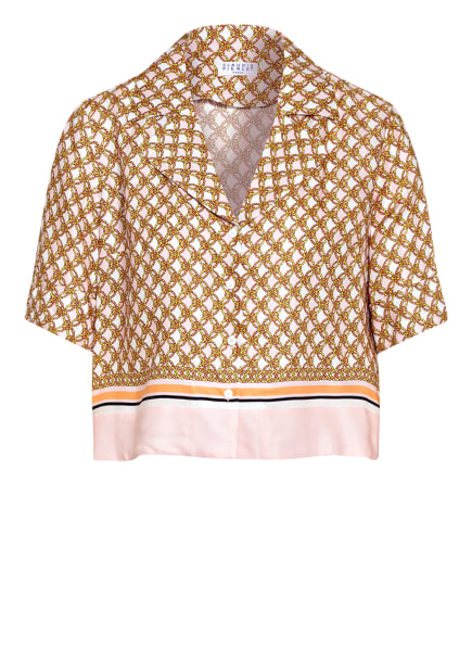 CLAUDIE PIERLOT Bluse CURIOSITEBIS , Farbe: HELLROSA/ ORANGE/ DUNKELGELB (Bild 1)