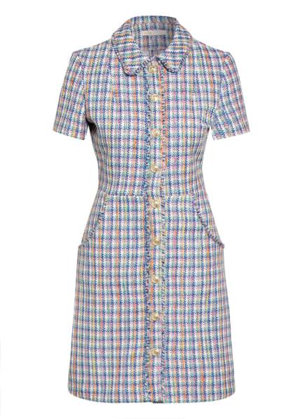 maje Tweed-Kleid RENIZAM mit Glitzergarn, Farbe: NEONBLAU/ DUNKELGELB/ GRÜN (Bild 1)