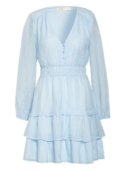 maje Plisseekleid, Farbe: HELLBLAU (Bild 1)