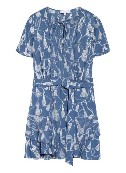 REISS Kleid CHARLIE, Farbe: BLAUGRAU/ WEISS (Bild 1)