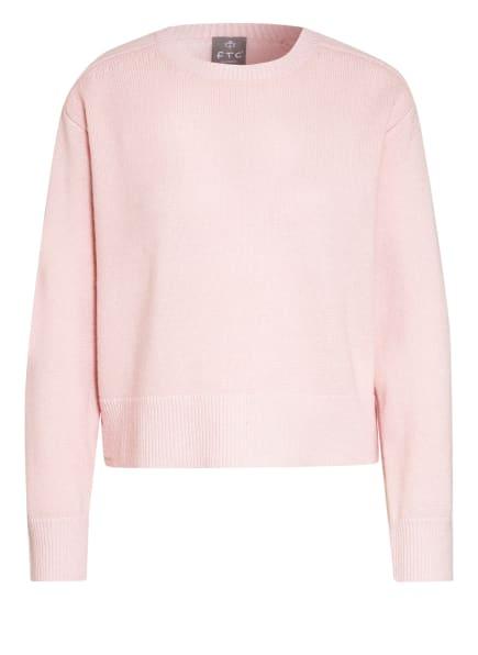 FTC CASHMERE Cashmere-Pullover, Farbe: HELLROSA (Bild 1)