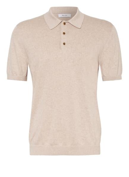 REISS Strick-Poloshirt WILKIE, Farbe: HELLBRAUN (Bild 1)