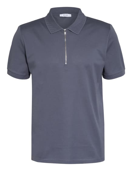 REISS Piqué-Poloshirt, Farbe: BLAUGRAU (Bild 1)