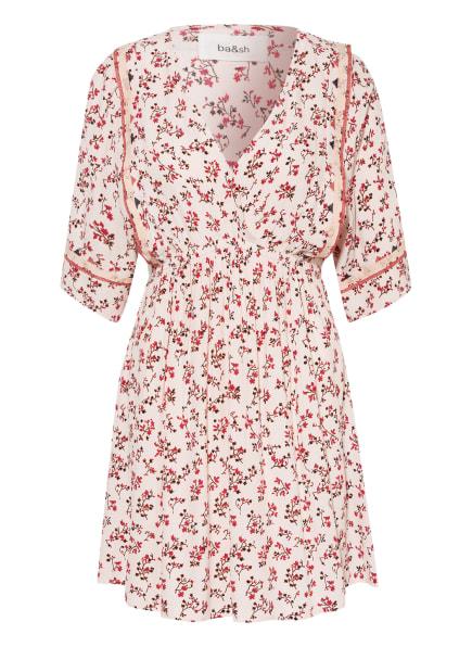 ba&sh Kleid SETE, Farbe: ECRU/ SCHWARZ/ DUNKELROT (Bild 1)