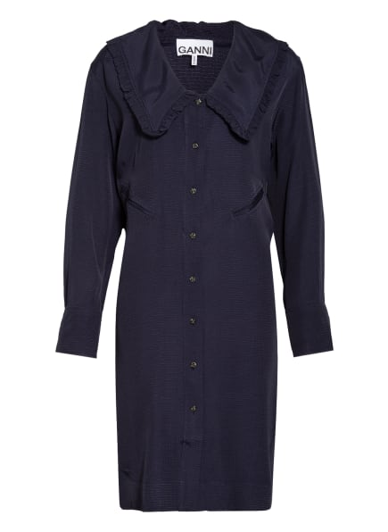 GANNI Kleid, Farbe: DUNKELBLAU (Bild 1)