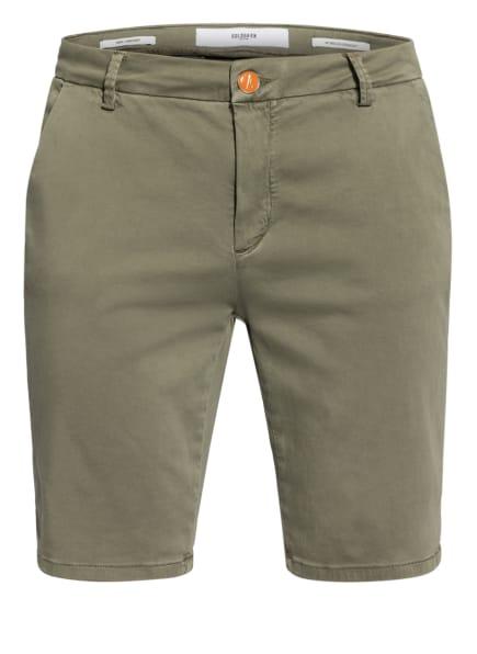 GOLDGARN DENIM Chino-Shorts HAFEN, Farbe: OLIV (Bild 1)