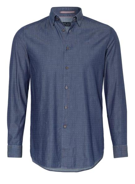 TED BAKER Hemd BEAAN Extra Slim Fit, Farbe: DUNKELBLAU/ WEISS (Bild 1)