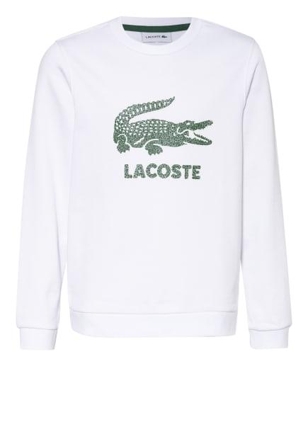 LACOSTE Sweatshirt, Farbe: WEISS/ DUNKELGRÜN (Bild 1)