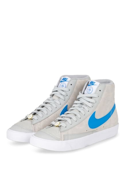 Nike Hightop-Sneaker BLAZER MID '77, Farbe: HELLGRAU/ BLAU (Bild 1)