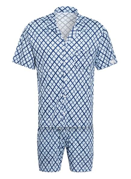 CALIDA Shorty-Schlafanzug, Farbe: HELLBLAU/ BLAU/ WEISS (Bild 1)