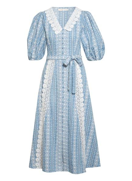 maje Kleid RAVIANA mit Spitzenbesatz, Farbe: HELLBLAU/ WEISS (Bild 1)
