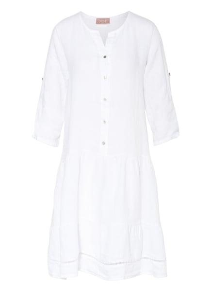 CARTOON Leinenkleid mit 3/4-Arm, Farbe: WEISS (Bild 1)