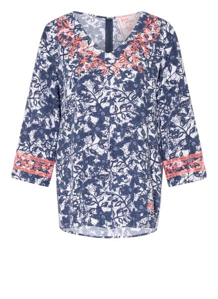 LIEBLINGSSTÜCK Blusenshirt ELENAL mit 3/4-Arm , Farbe: WEISS/ BLAU (Bild 1)