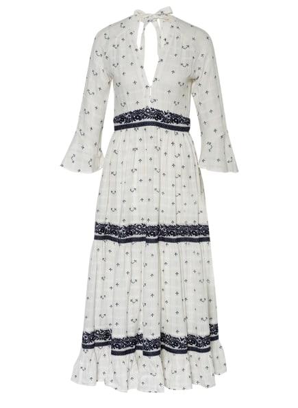 maje Kleid RIBIZA mit 3/4-Arm , Farbe: WEISS/ DUNKELBLAU (Bild 1)