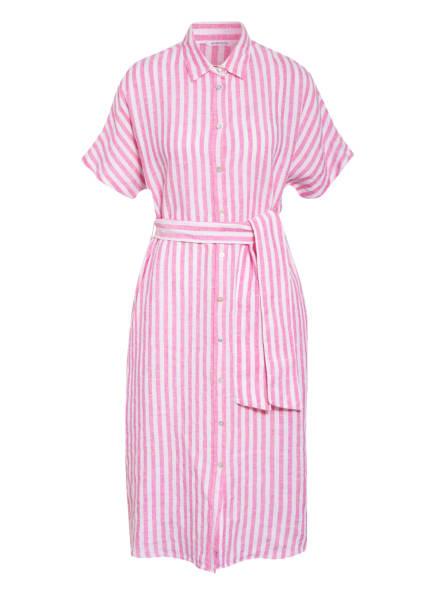 seidensticker Hemdblusenkleid aus Leinen, Farbe: WEISS/ ROSA (Bild 1)