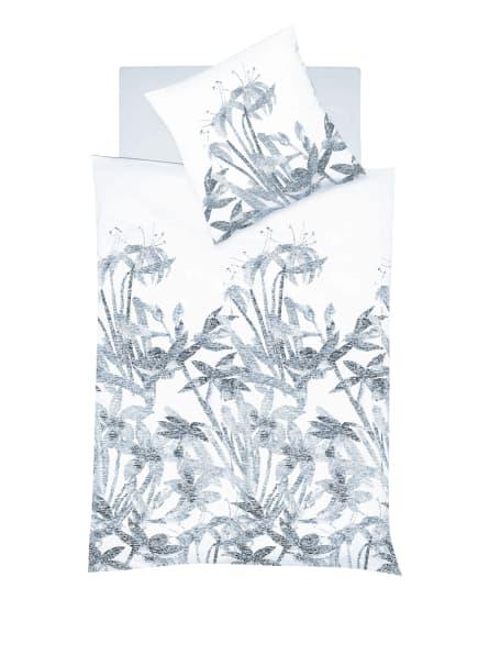 fleuresse Bettwäsche PROVENCE CASSIS zum Wenden, Farbe: WEISS/ BLAUGRAU/ HELLBLAU (Bild 1)