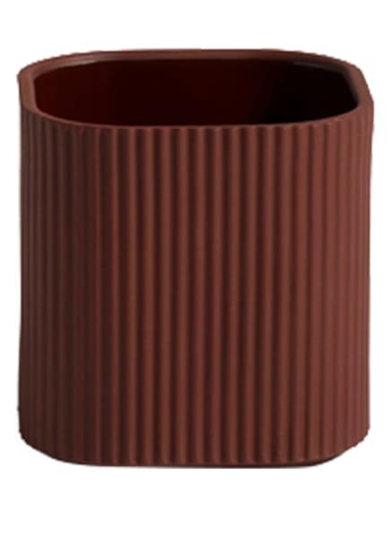 HAY Blumentopf FACADE SMALL, Farbe: DUNKELBRAUN (Bild 1)