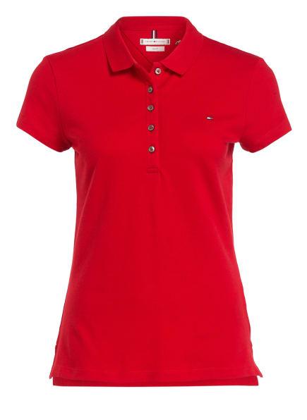 TOMMY HILFIGER Piqué-Poloshirt NEW CHIARA, Farbe: ROT (Bild 1)