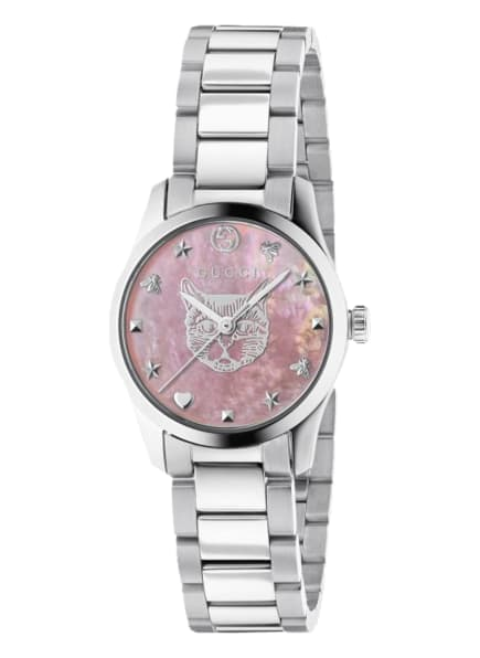 GUCCI Armbanduhr G-TIMELESS, Farbe: SILBER/ ROSA (Bild 1)