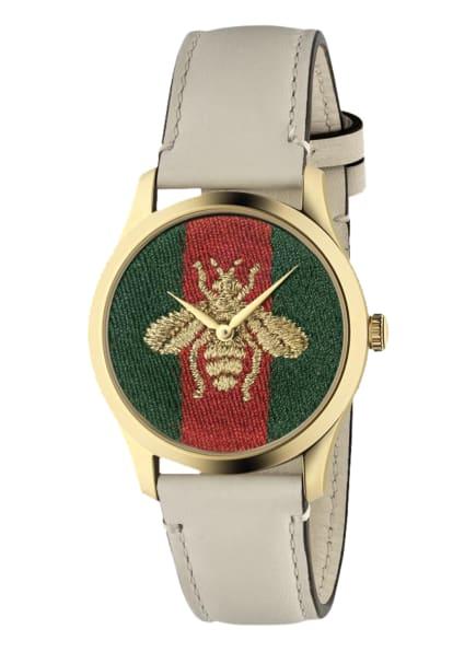 GUCCI Armbanduhr G-TIMELESS , Farbe: GOLD/ BEIGE (Bild 1)