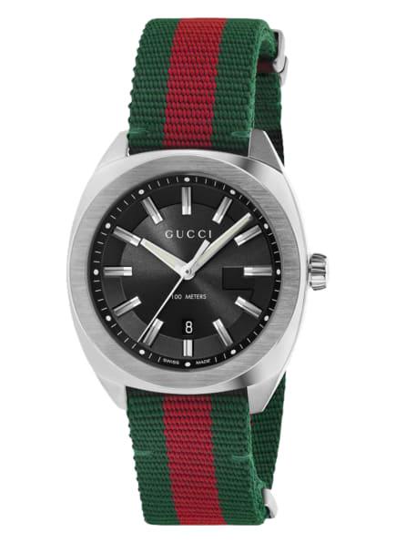 GUCCI Armbanduhr , Farbe: SCHWARZ/ GRÜN/ ROT (Bild 1)
