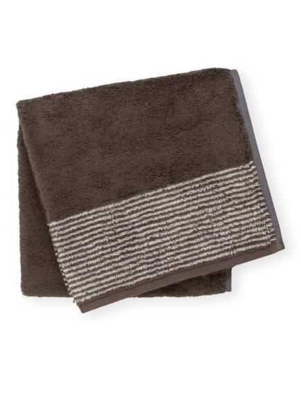Cawö Handtuch, Farbe: DUNKELBRAUN/ HELLGRAU (Bild 1)