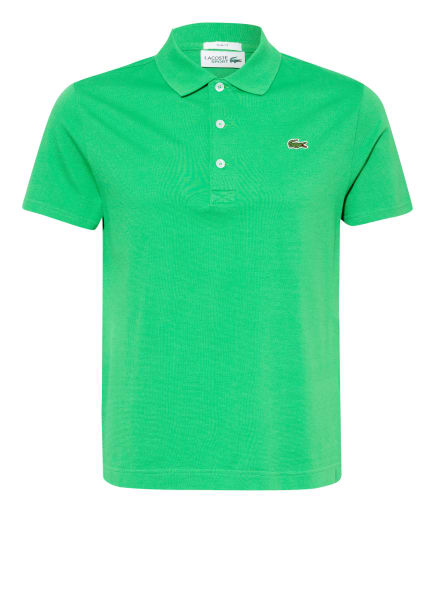 LACOSTE Piqué-Poloshirt Slim Fit, Farbe: GRÜN (Bild 1)