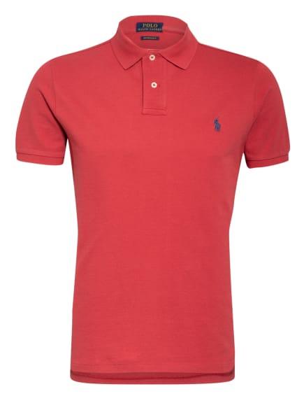 POLO RALPH LAUREN Piqué-Poloshirt Custom Slim Fit, Farbe: DUNKELROT (Bild 1)